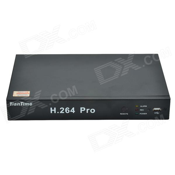 YianTime NVR8004F H.264 960P 4-CH HD Network Video Recorder w/ Wired Mouse - Black (PAL / NTSC)