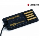 Kingston FCR-MRG2 G2 USB 2.0 microSDHC Flash Memory Card Reader - Black