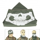 Outdoor Reflective Skull Style UV Protection Mask for Cycling - Army Green
