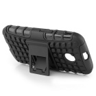 Protective TPU + PC Case w/ Stand for Motorola Moto E - Black