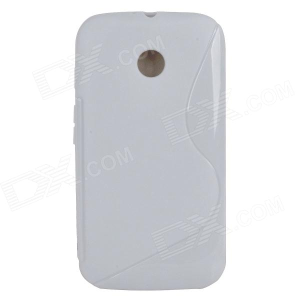 S Style Protective TPU Back Case for MOTO E - White x style protective tpu back case for moto e black
