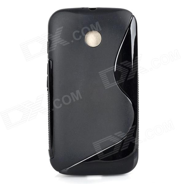 S Style Protective TPU Back Case for MOTO E - Black s style protective tpu back case for moto e black