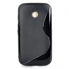 ''S'' Style Protective TPU Back Case for MOTO E - Black - Cases and Protectors Cell Phones and Accessories