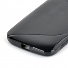 """S"" Style Protective TPU Back Case for MOTO E - Black"