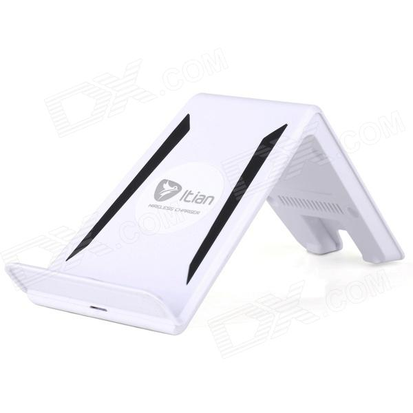 Itian A6 3-Coils Multi-function Qi Standard Wireless Charger for Tablet PC / Mobile phone - White