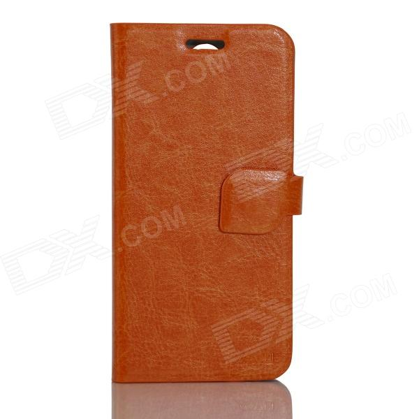 JIAYU Flip Open Protective PU Leather Case Cover for G2F - Orange jiayu flip open protective pu leather case cover for g2f orange