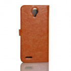 JIAYU Flip Open Protective PU Leather Case Cover for G2F - Orange