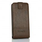 Flip-Open Protective PU Leather Case Cover for G4 - Brown
