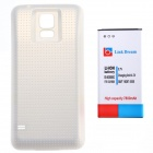 7800mAh 3.7 V Thicken Li-ion Battery w/White Dots Battery Cover w/ NFC for Samsung Galaxy S5 - White