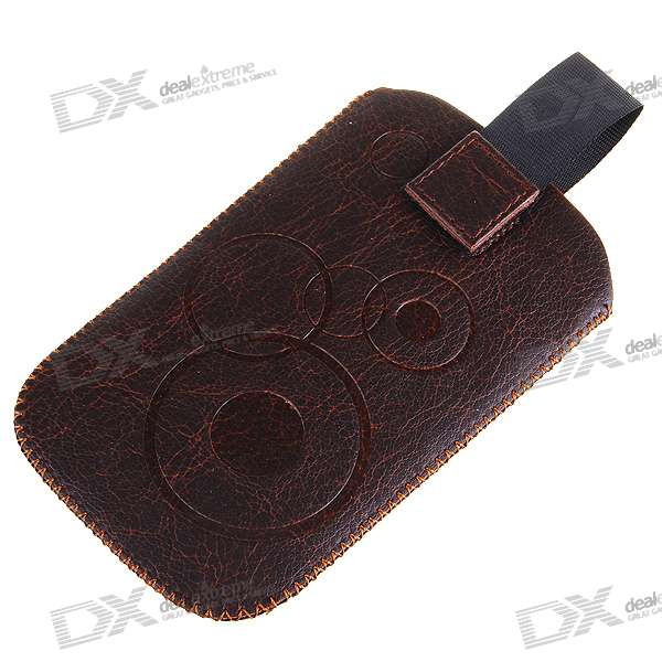 Protective Leather Case with Securing Strap for Iphone 2G/3G/3GS (Brown/Black)