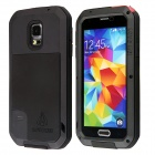 LOVE MEI HW01 Aluminum Alloy + Silicone Back Case w/ Strap for Samsung Galaxy S5 - Black + Red