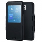 Protective PC + TPU Flip Open Case w/ Display Window for Samsung Galaxy S5 - Black