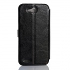 JIAYU Flip Open Protective PU Leather Case Cover for F1 - Black