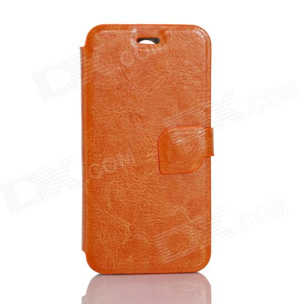 JIAYU Flip Open Protective PU Leather Case Cover for F1 - Orange jiayu flip open protective pu leather case cover for g2f orange