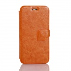 JIAYU Flip Open Protective PU Leather Case Cover for F1 - Orange