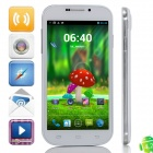 "9006 MTK6582 Quad-Core Android 4.2.2 WCDMA Bar Phone w/ 5.0"" QHD, 4GB ROM, Wi-Fi, GPS - White"