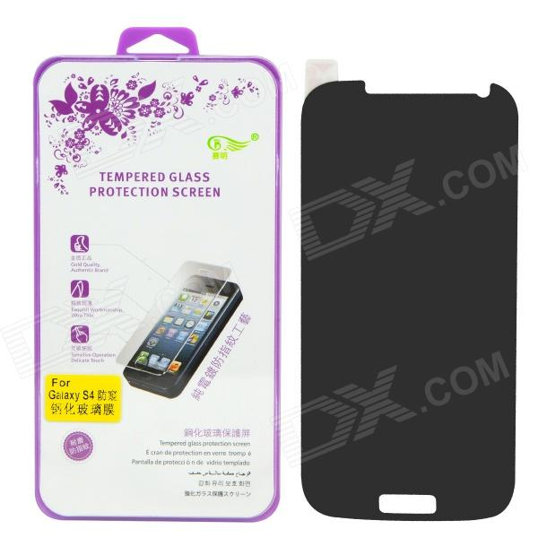 SMKJ Anti-spy Tempered Glass Screen Protector Film for Samsung Galaxy S4 i9500 pudini protective 0 4mm tempered glass screen protector guard film for samsung galaxy s4 i9500