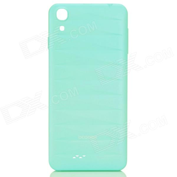 DOOGEE VALENCIA DG800 Replacement Battery Back Cover Case - Light Blue doogee valencia dg800 replacement battery back cover case white