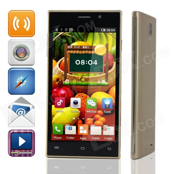 "KALEE K18-A Quad-Core Android 4.3 GSM Bar Phone w/ 5.0"" QHD, Wi-Fi, Quad-Band - Golden"