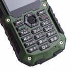 "I40 2.2"" IP67 Waterproof Dustproof Rugged Outdoor GPS GSM Cellphone w/ Interphone, Quad-band - Green"