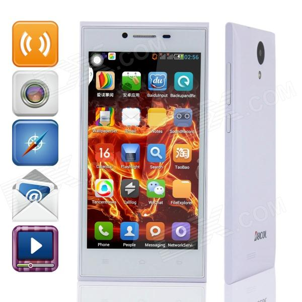 "BBCOL E7 Quad-Core Android 4.3 GSM Bar Phone w/ 5.0"" QHD, Quad-band and Wi-Fi - White"