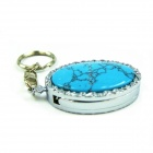 IDOMAX L002 Turquoise Style USB 2.0 Flash Drive - Lake Blue + Silver (32GB)