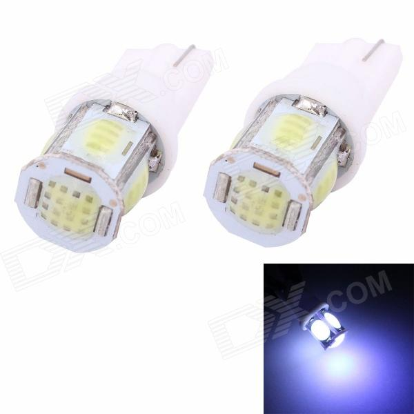 MZ T10 5W 350lm COB White LED Car License Plate / Steering Light / Clearance Lamp cob integrated 3w 100lm 6 led white light reading room lamp w t10 32 42mm connectors
