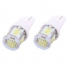 MZ T10 5W 350lm COB White LED Car License Plate / Steering Light / Clearance Lamp