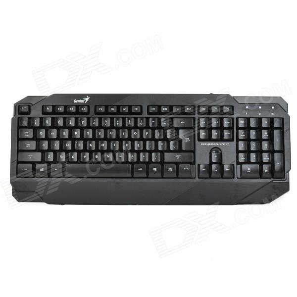 LS K1 104-Key USB Wired Gaming Keyboard w/ Back Light - Black kinbas gx mk98 usb wired blue 104 key gaming keyboard wired usb mouse set black