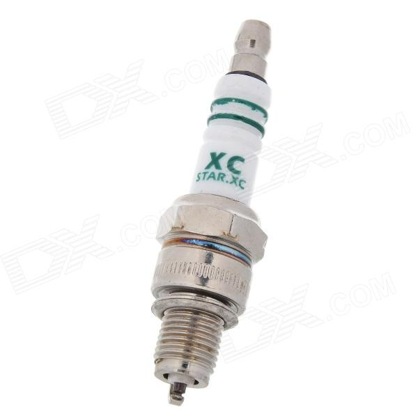A7TC DIY Universal Sparking Plug for Motorcycle / Cub-type motorcycle - White + Silver new lone wolf and cub v 7