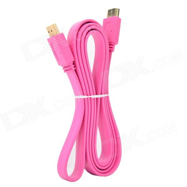 HDMI 1.4 Male to Male 1080P HD AV Cable for STB / TV Connection - Deep Pink (148cm) hdmi male to male 1080p hd av cable black 15m