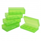 Handy PP Storage Organizer Case for Battery / Electric Goods - Green (5 PCS)