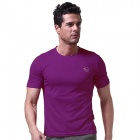 LANGZUYOUDANG 2170 Men's Outdoor Sports Quick-Dry Short-sleeved T-shirt - Purple (L)