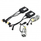 DIY H7 25W 3000lm 5500K White Light LED Head Lamp for Car - Silver + Black (2 PCS)