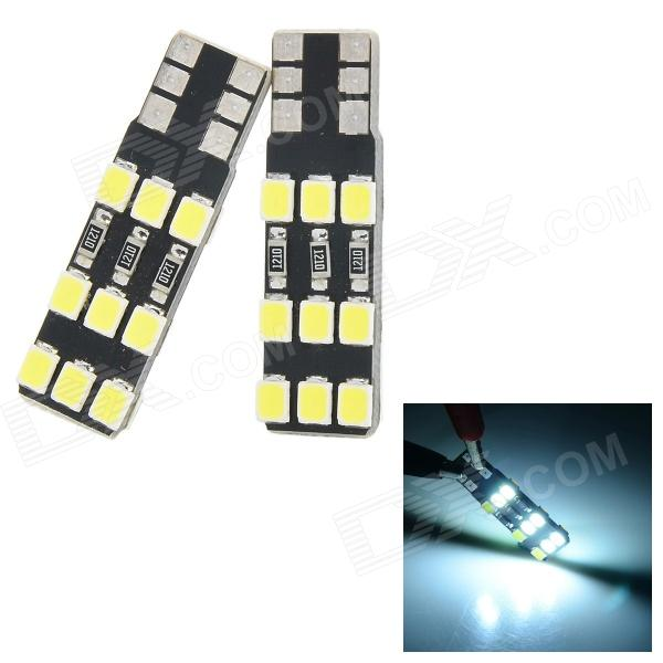 T10 1.2W 20LM 6500K 18-3528 SMD LED White Light Lamp for Car - Black + Yellow (2PCS) бутсы under armour magnetico pro fg 3000111 300