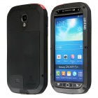 LOVE MEI Aviation Aluminum Alloy Case for Samsung Galaxy S4 - Black + Transparent