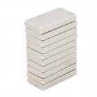 20 x 10 x 3mm Rectangular Nickel Plating NdFeB Magnet - Silver (10 PCS)