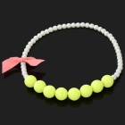 Girl's / Children's Bowknot Bead Style ABS Necklace - White + Yellow Green + Pink