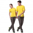 Men's Outdoor Sports Quick-Dry Short-sleeved Polyester T-shirt - Yellow (L)