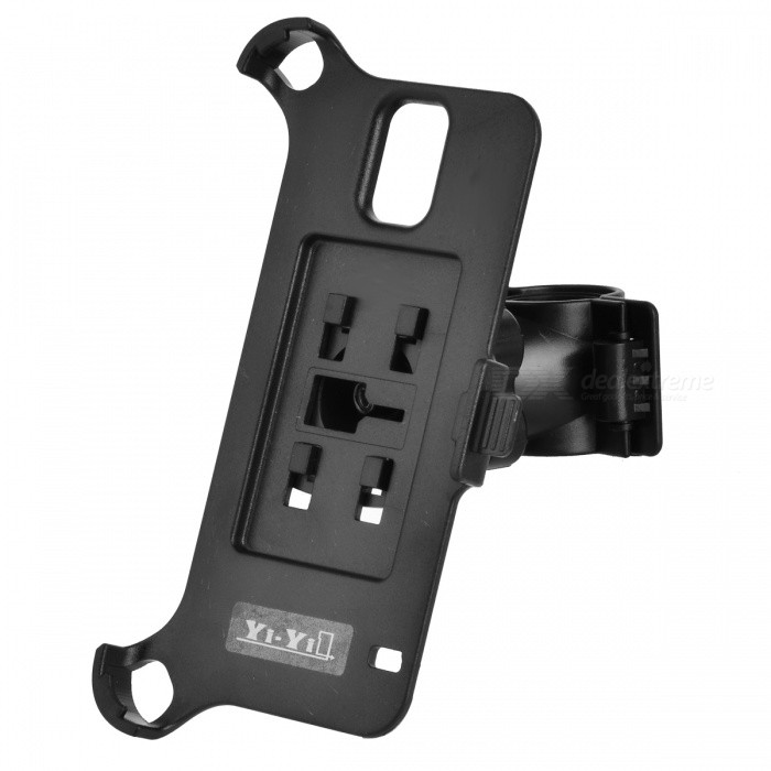 YI-YI Handy Bike Mounted ABS Holder + Back Case for Samsung Galaxy S5 / G900 - Black