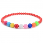 Girl's / Children's Colorful Bead Style ABS Necklace - Red + Multi-colored
