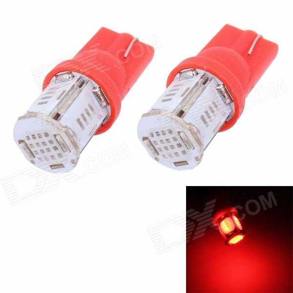 MZ T10 5W 325LM COB Red LED Car Light / License Plate Light / Steering Light / Clearance Lamp (2PCS)