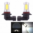 MZ 9006 25W 6500K 1700lm 4-COB + Cree XP-E LED White Car Fog / Signal Light / Indicator Lamp (2 PCS)