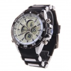 BESNEW BN-0798 Multi-Function Men's Sports Electronic + Quartz Wrist Watch - White + Black