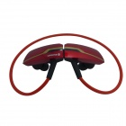 OUMILY B99-HONGSE Rechargeable Sports Music Bluetooth V3.0 Headset w/ Microphone - Red + Golden
