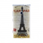 Kinston Eiffel Tower Pattern TPU Back Case for Nokia Lumia 520 - Grey + Black + Multi-Colored