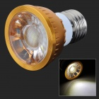 HH18 E27 4W 180LM 6500K COB LED White Light Lamp / Spotlight - Golden + Silver (AC 85~265V)