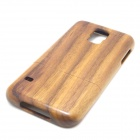 Retro Protective Walnut Wood Back Case for Samsung Galaxy S5 - Brown + Black
