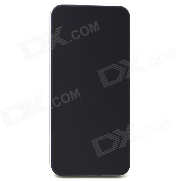 J-007 4000mAh 5V Li-Polymer Battery Power Bank w/ USB Cable for IPHONE + More - Black