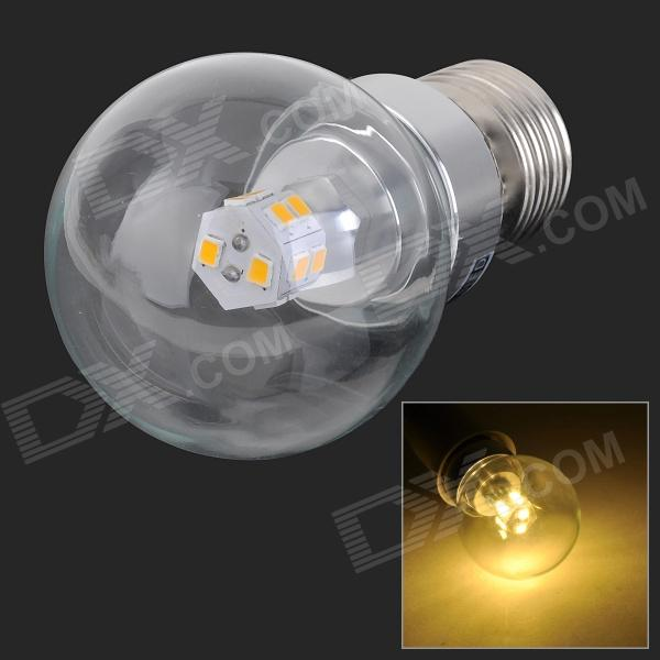 MLSLED E27 3W 240LM 3500K 14-2835 LED Warm White Light Screw-socket Bulb (AC 85~265V) mlsled e14 2w 140lm 3500k 10 smd 2835 led warm white bulb white transparent ac 220 240v